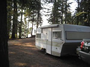 Picture of my trailer at the lake